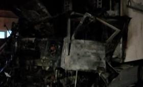 Moldoveni arși în cabina unui TIR