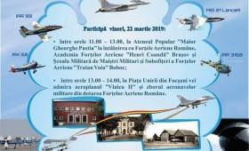 Focșaniul survolat de avioane în week-end. Replica aeroplanului Vlaicu II expusă în Piața Unirii