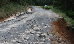 Drumul national DN2N intre Jitia si Vintileasca s-a prabusit