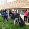 Elevii focșăneni au participat la curățenia de primăvară  în Focșani