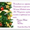 Crăciun Fericit!- Vlad Petruș, primarul comunei Poiana Cristei