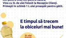 Carrefour Focșani colectează ulei folosit