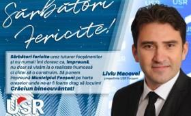 Crăciun binecuvântat! Liviu Macovei – președinte USR Focșani