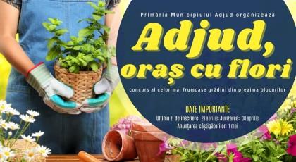 """Concurs de grădinărit, """"Adjud, oraș cu flori"""""""