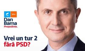 """Dan Barna: """"Ieșiți la vot pentru ca România să aibă un tur 2 fără PSD. Cu o prezență mare putem scăpa de PSD și Viorica Dăncilă"""""""