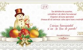 Crăciun binecuvântat! Gheorghiță Berbece – prefectul județului Vrancea