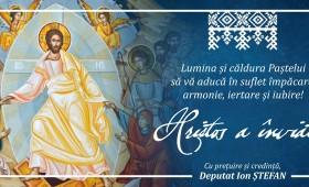 Hristos a Înviat! Deputat PNL Ion Ștefan