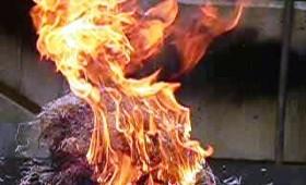 Incendiu într-un bloc pe Scarlat Tîrnăvitu
