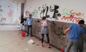 Acțiune civică! Pasajul Gării curățat de voluntari