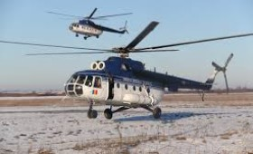 Elicopterul MAI intervine pentru salvarea bolnavilor prinsi in nameti