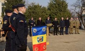 Jandarmii vrânceni și-au schimbat drapelul de luptă