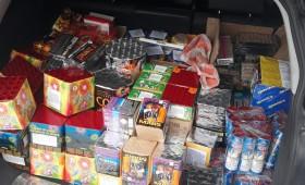 Mii de petarde confiscate de polițiștii focșăneni