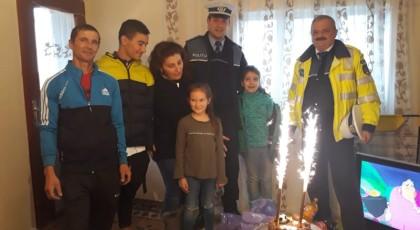 Motive de bucurie și sărbători de iarnă mai liniștite,  oferite de polițiști