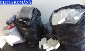 Atenție ce cumpărați! Haine și încălțăminte contrafăcute, confiscate de polițiști