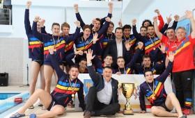 """România a obținut locul I și cupa """"Vrancea County Water Polo Tournament"""" la Turneul Internațional de Polo pe apă"""