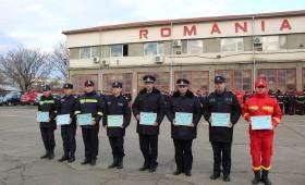 Meritele pompierilor vrânceni apreciate  de Ziua Naţională a României