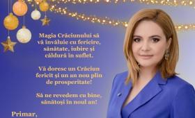 Crăciun Fericit! Maria Stroe -primarul comunei Suraia