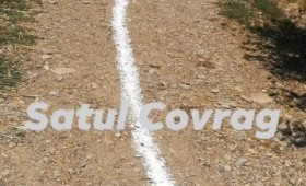 Bătaie de joc la Tănăsoaia: Drumuri de pământ marcate cu vopsea