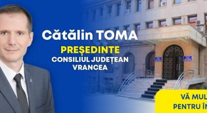Vot istoric în Vrancea! Cătălin Toma (PNL) l-a învins pe Marian Oprișan