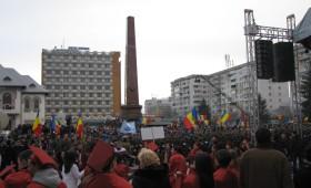 Sute de forte de ordine in Piata Unirii pe 24 ianuarie